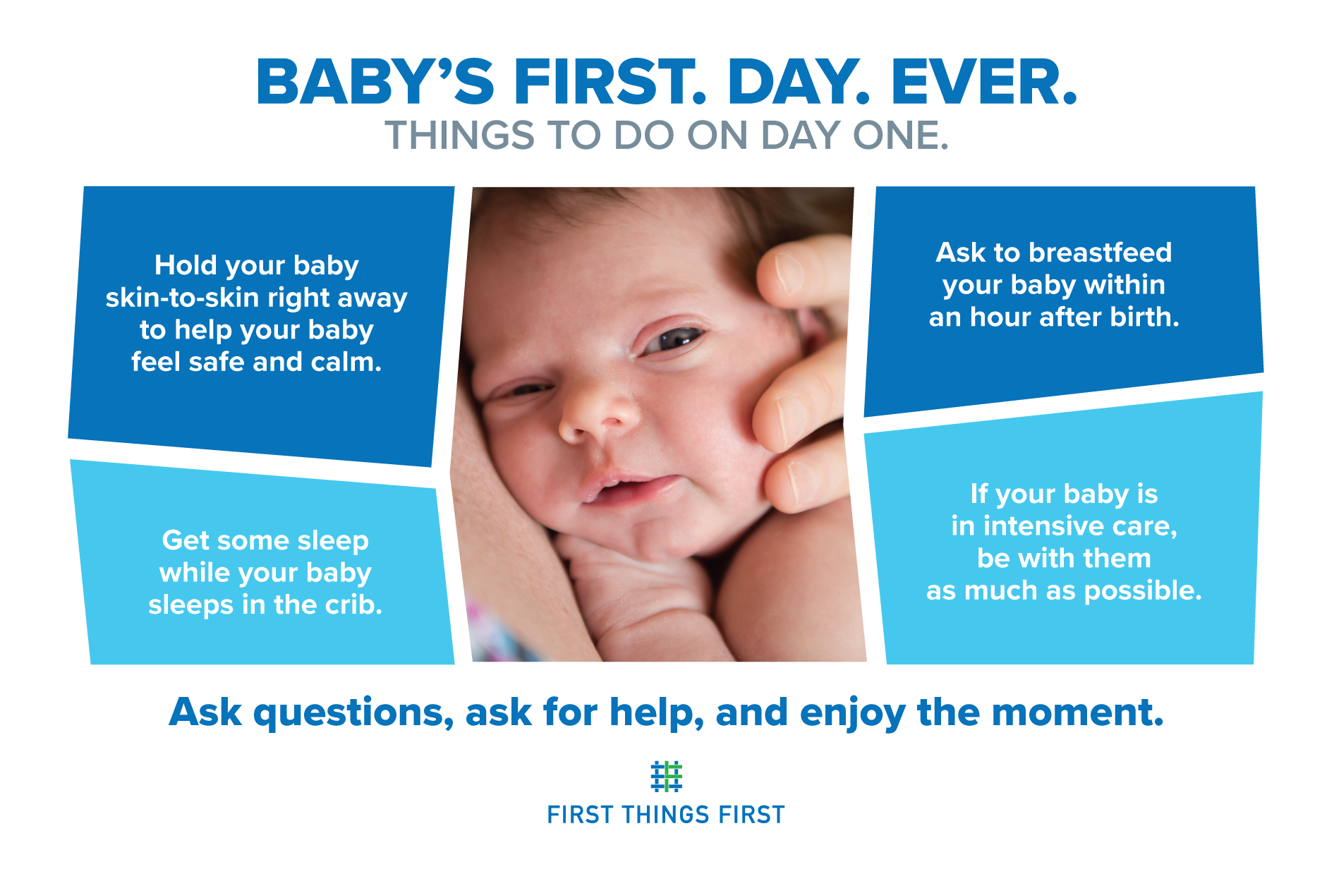 Things to do on baby's first day