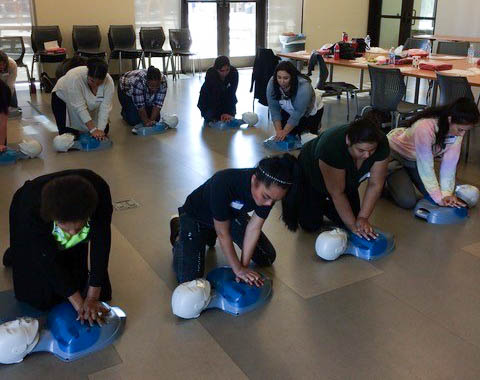 CPR class for caregivers