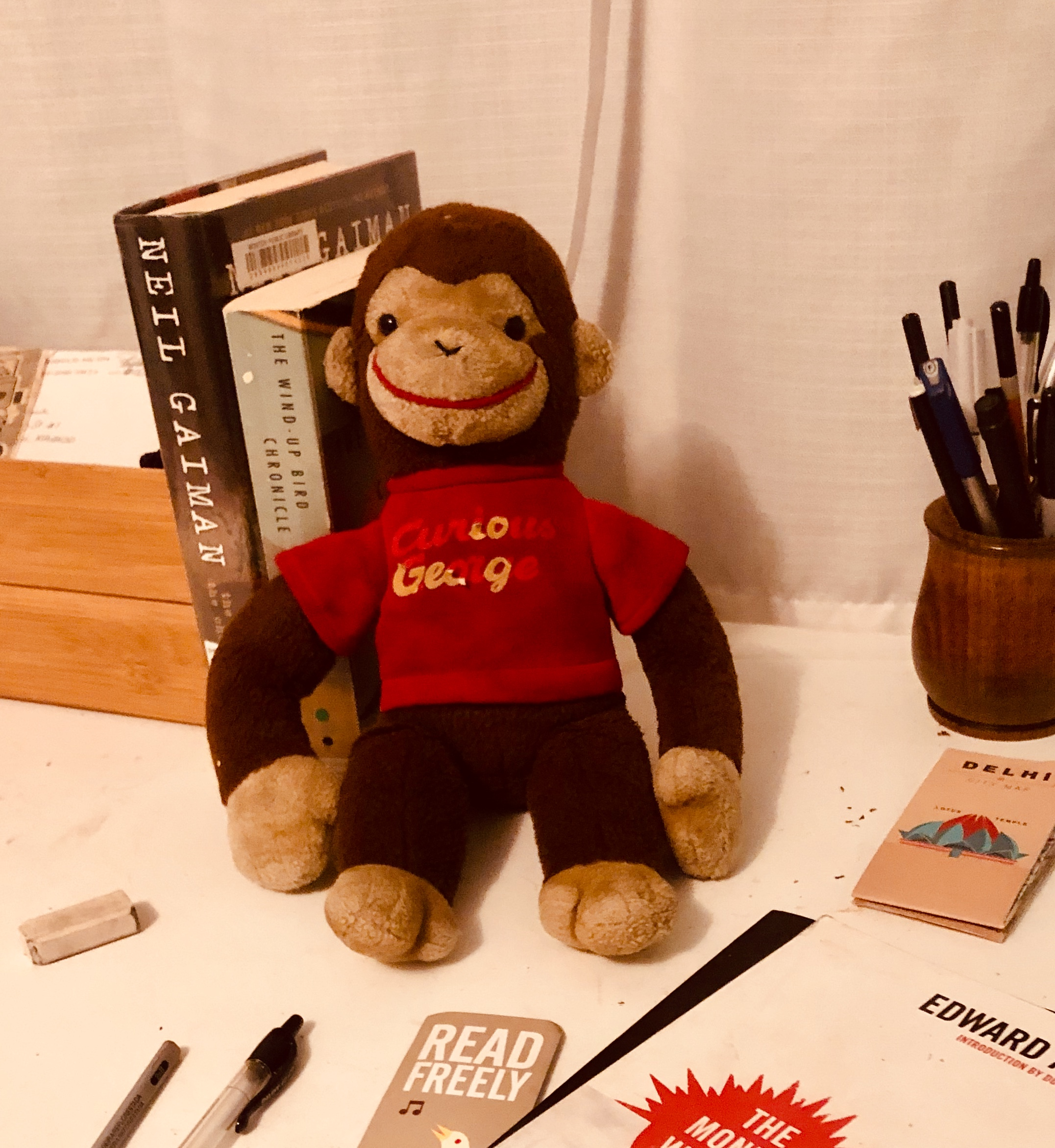plush Curious George inspires reading