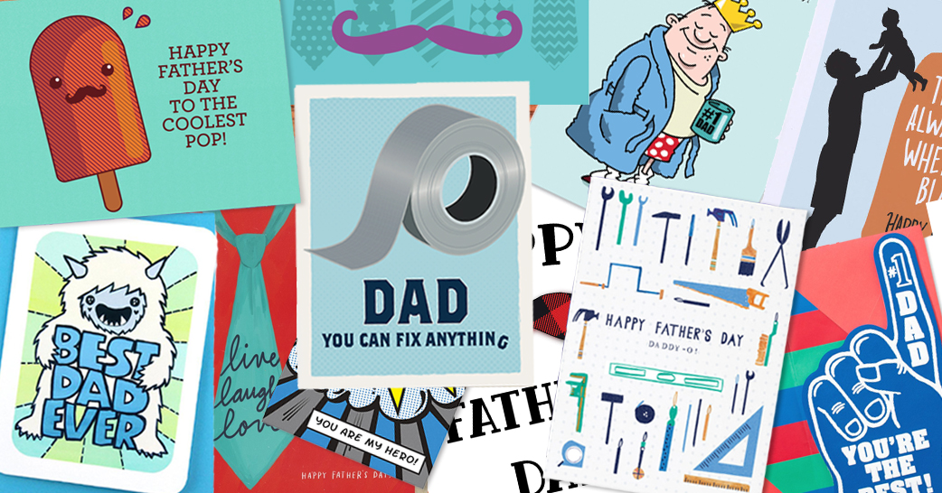 compilation of Father's Day cards