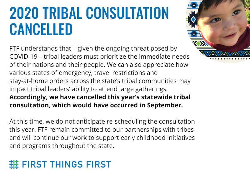 2020 Tribal Consultation Cancelled