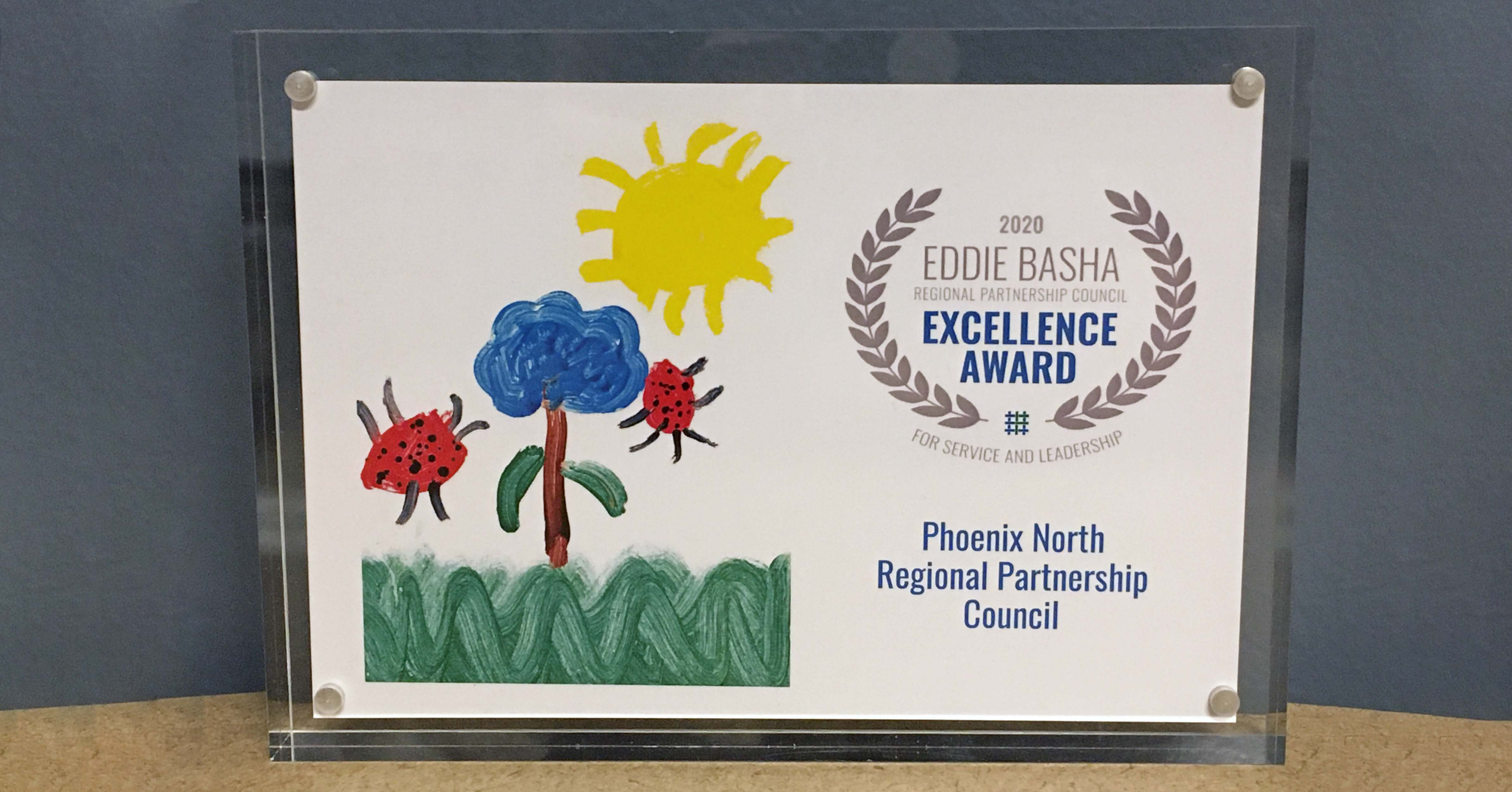 Eddie Basha award certificate