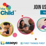 Week of the Young Child with parents and babies and toddlers