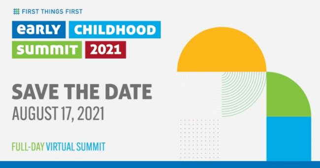 Save the date card for the FTF Early Childhood Summit 2021