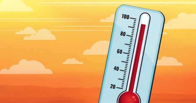 picture of thermometer pushing 100 degrees